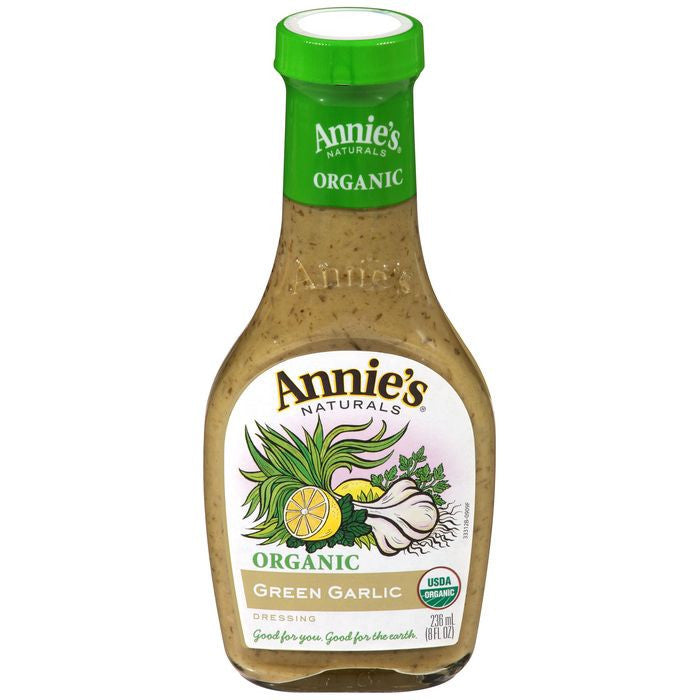 Annie's Naturals Organic Green Garlic Dressing 8 fl. Oz  (Pack of 6)