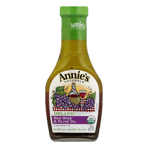 Annies Dressing Organic Red Wine Olive Oil, 8 OZ (Pack of 6)