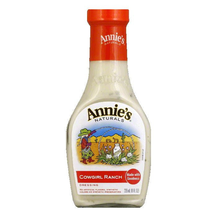 Annies Cowgirl Ranch Dressing, 8 OZ (Pack of 6)