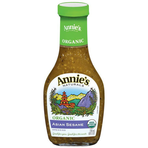 Annie's Naturals Organic Asian Sesame Dressing 8 fl. Oz  (Pack of 6)