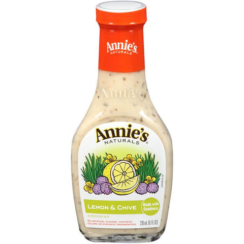 Annie's Naturals Lemon & Chive Dressing 8 fl. Oz  (Pack of 6)
