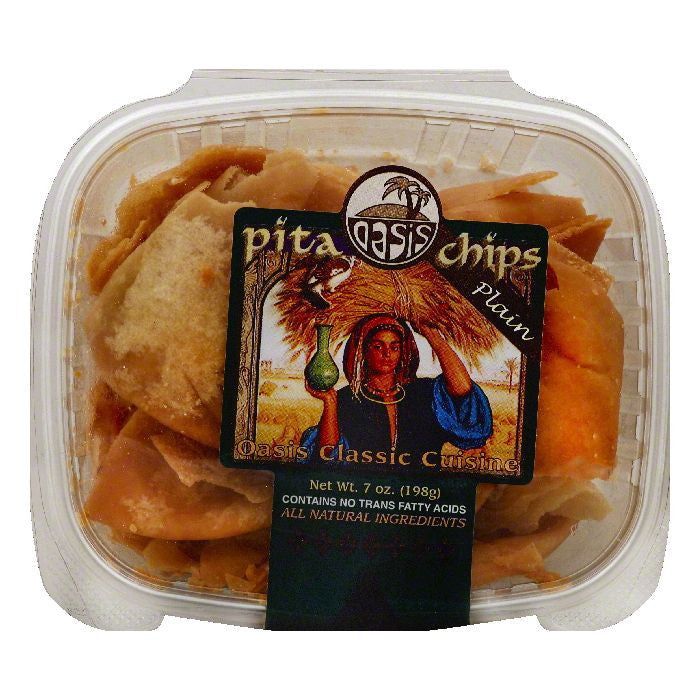 Oasis Plain Pita Chips, 7 OZ (Pack of 12)