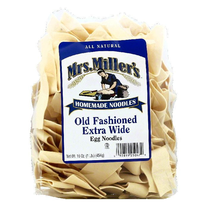 Mrs Millers Extra Wide Old Fashioned Egg Noodles, 16 OZ (Pack of 6)