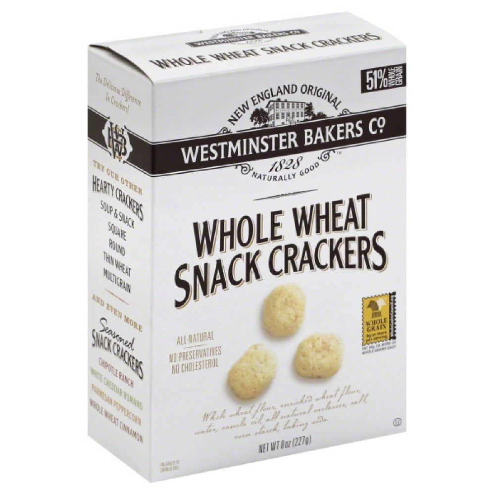 Westminster Bakers Snack Crackers Whole Wheat, 8 Oz (Pack of 12)