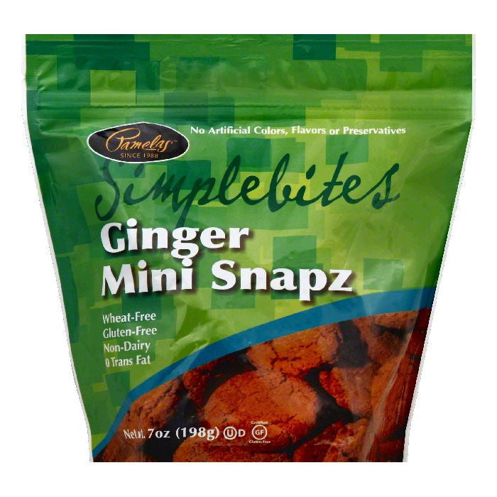 Pamelas Mini Ginger Snapz, 7 OZ (Pack of 6)