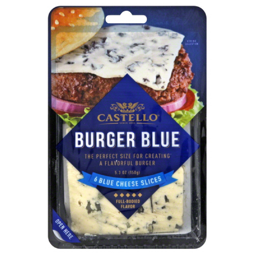 Castello Slices Burger Blue Blue Cheese, 5.3 Oz (Pack of 10)