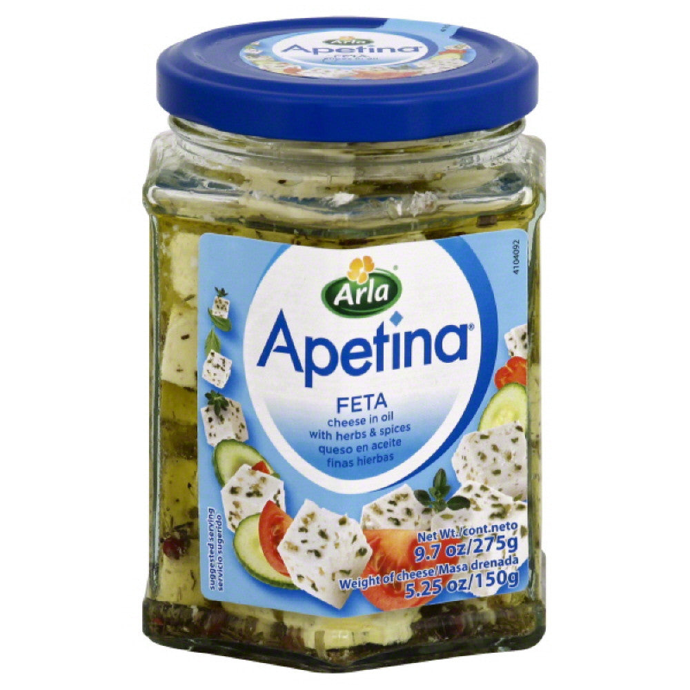 Apetina Feta with Herbs & Spices in Oil Cheese, 5.25 Oz (Pack of 6)