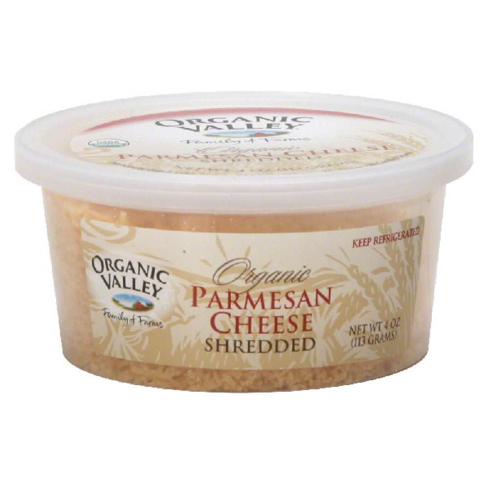 Organic Valley Shredded Organic Parmesan Cheese, 4 Oz (Pack of 12)