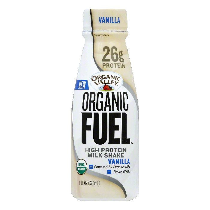 Organic Valley Vanilla Organic Fuel High Protein Milk Shake, 11 OZ (Pack of 12)