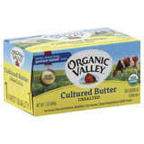 Organic Valley Unsalted Cultured Butter, 16 Oz (Pack of 15)