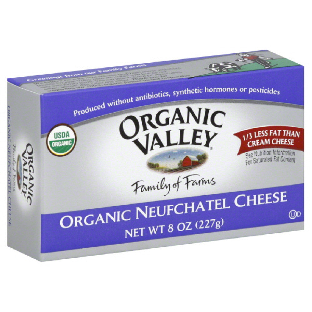 Organic Valley Organic Neufchatel Cheese, 8 Oz (Pack of 12)