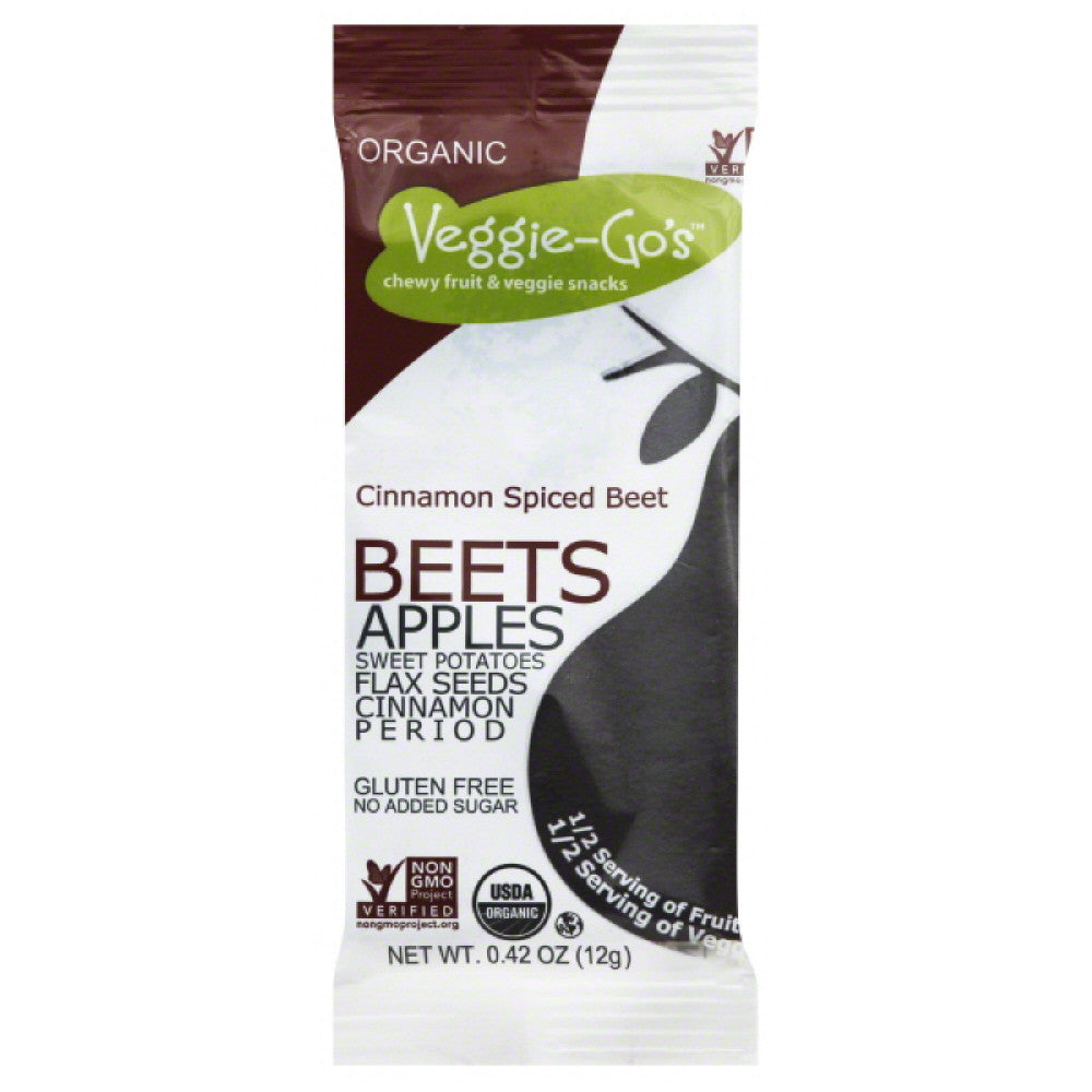 Veggie Gos Cinnamon Spiced Beet Chewy Fruit & Veggie Snacks, 0.42 Oz (Pack of 20)