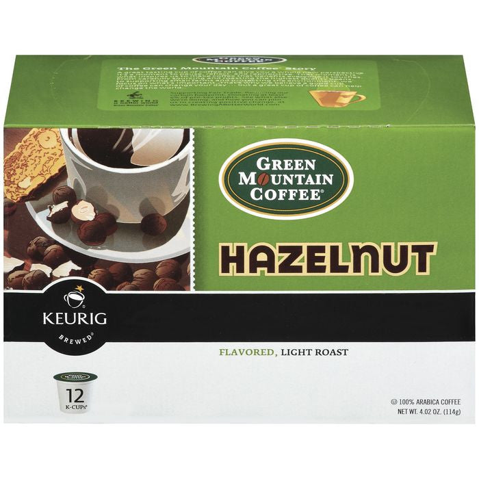 Green Mountain Coffee Roasters Hazelnut Flavored Light Roast 12 Ct K-Cups Coffee 4.02 Oz  (Pack of 6)
