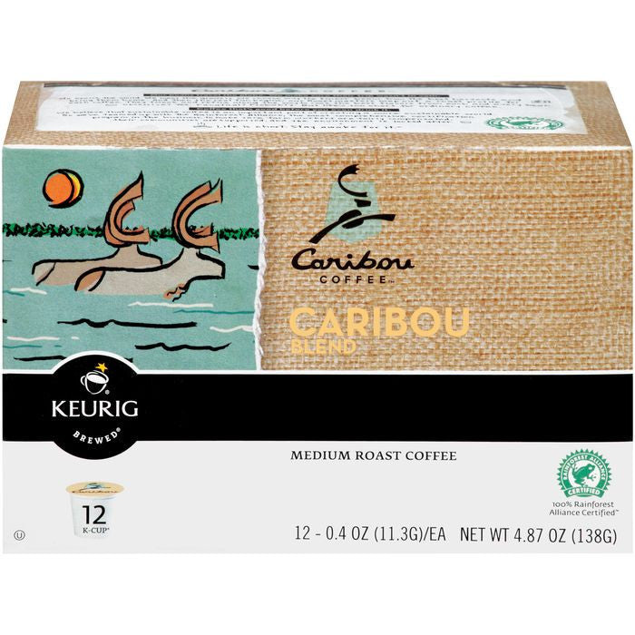 Caribou Coffee Caribou Blend Medium Roast Cofee 12 ct K-Cups (Pack of 6)