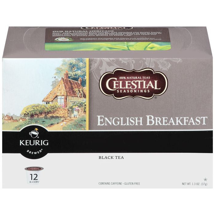 Celestial English Breakfast 12 Ct K-Cups Black Tea 1.3 Oz  (Pack of 6)
