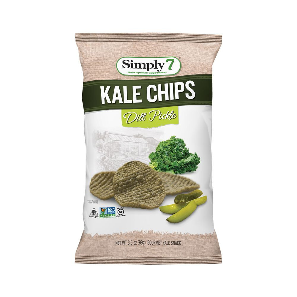 Simply 7 Dill Pickle Kale Chips, 3.5 Oz (Pack of 12)