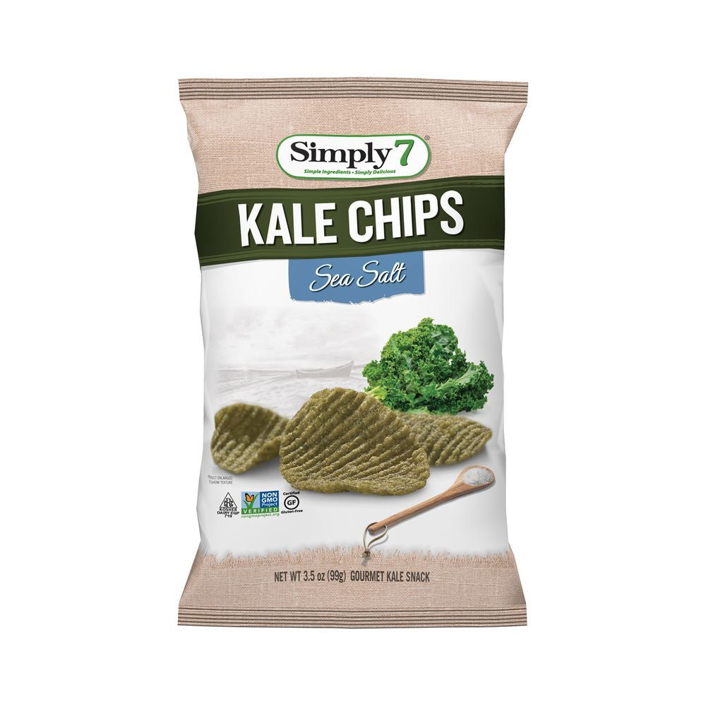 Simply 7 Sea Salt Kale Chips, 3.5 Oz (Pack of 12)