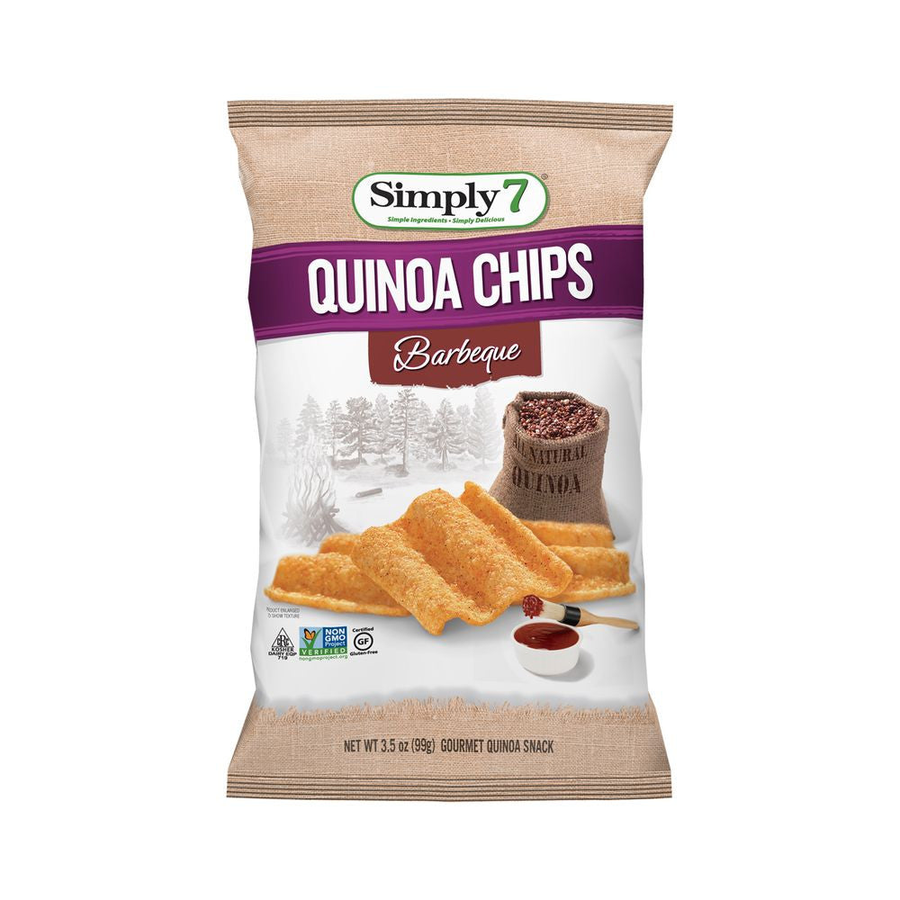 Simply 7 Barbeque Quinoa Chips, 3.5 Oz (Pack of 12)