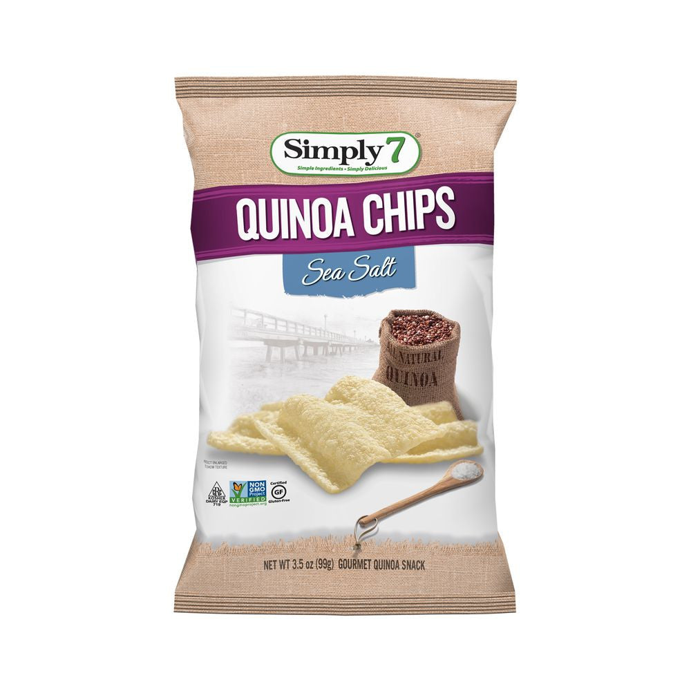 Simply 7 Sea Salt Quinoa Chips, 3.5 Oz (Pack of 12)