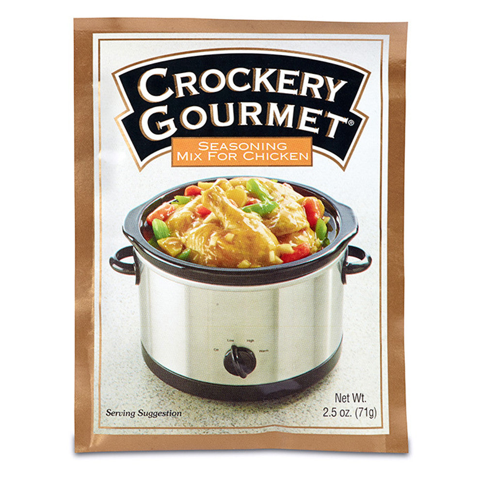 Crockery Gourmet Chicken Crockery Cooking Seasoning Mix, 2.5 OZ (Pack of 12)