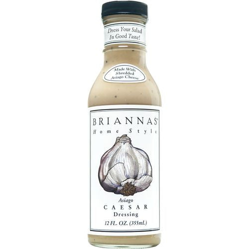 Briannas Asiago Caesar Home Style Dressing, 12 OZ (Pack of 6)