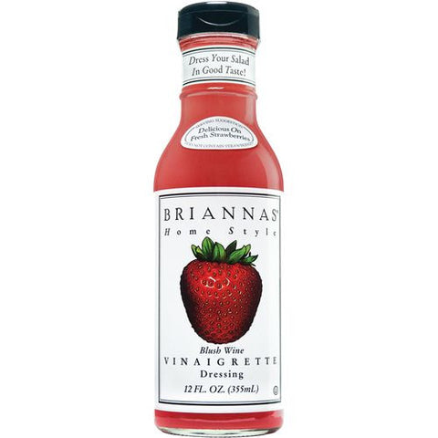 Briannas Dressing Blush Wine Vinaigrette, 12 OZ (Pack of 6)