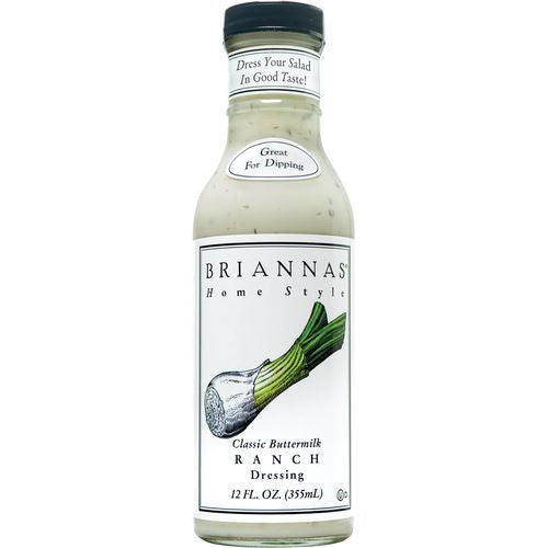 Briannas Classic Buttermilk Ranch Dressing, 12 OZ (Pack of 6)