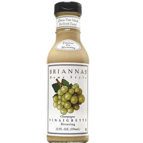 Briannas Champagne Caper Vinaigrette Home Style Dressing, 12 OZ (Pack of 6)