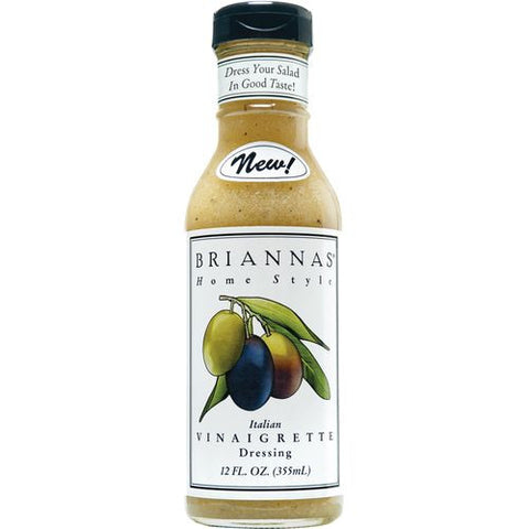 Briannas Italian Vinaigrette Home Style Dressing, 12 Oz (Pack of 6)