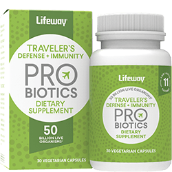 Lifeway Probiotic Supplement Traveler's Defense & Immunity, 30 CP (Pack of 1)