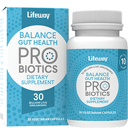 Lifeway Probiotic Supplement Balance Gut Health, 30 CP (Pack of 1)