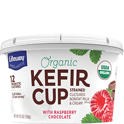 Lifeway Organic Kefir Cup Raspberry Chocolate, 5.3 Oz (Pack of 12)