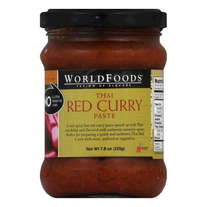 World Food Thai Red Curry Paste, 7.8 OZ (Pack of 6)