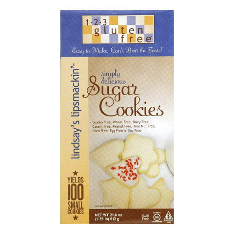 123 Gluten Free Gluten Free Lindsay Roll Out Sugar Cookies, 21.6 OZ (Pack of 6)