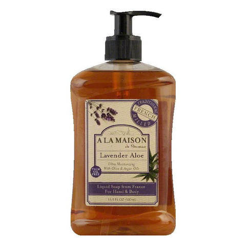 A La Maison Lavender Aloe for Hand & Body Liquid Soap, 16.9 FO
