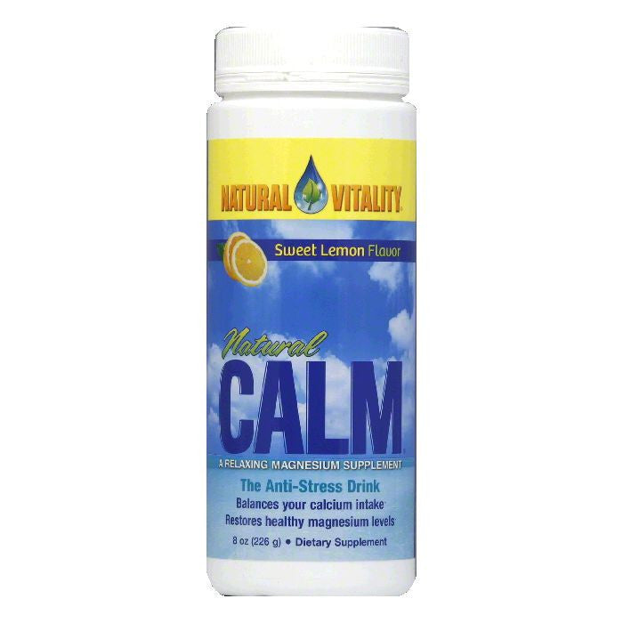 Natural Vitality Sweet Lemon Flavor Magnesium Supplement, 8 Oz