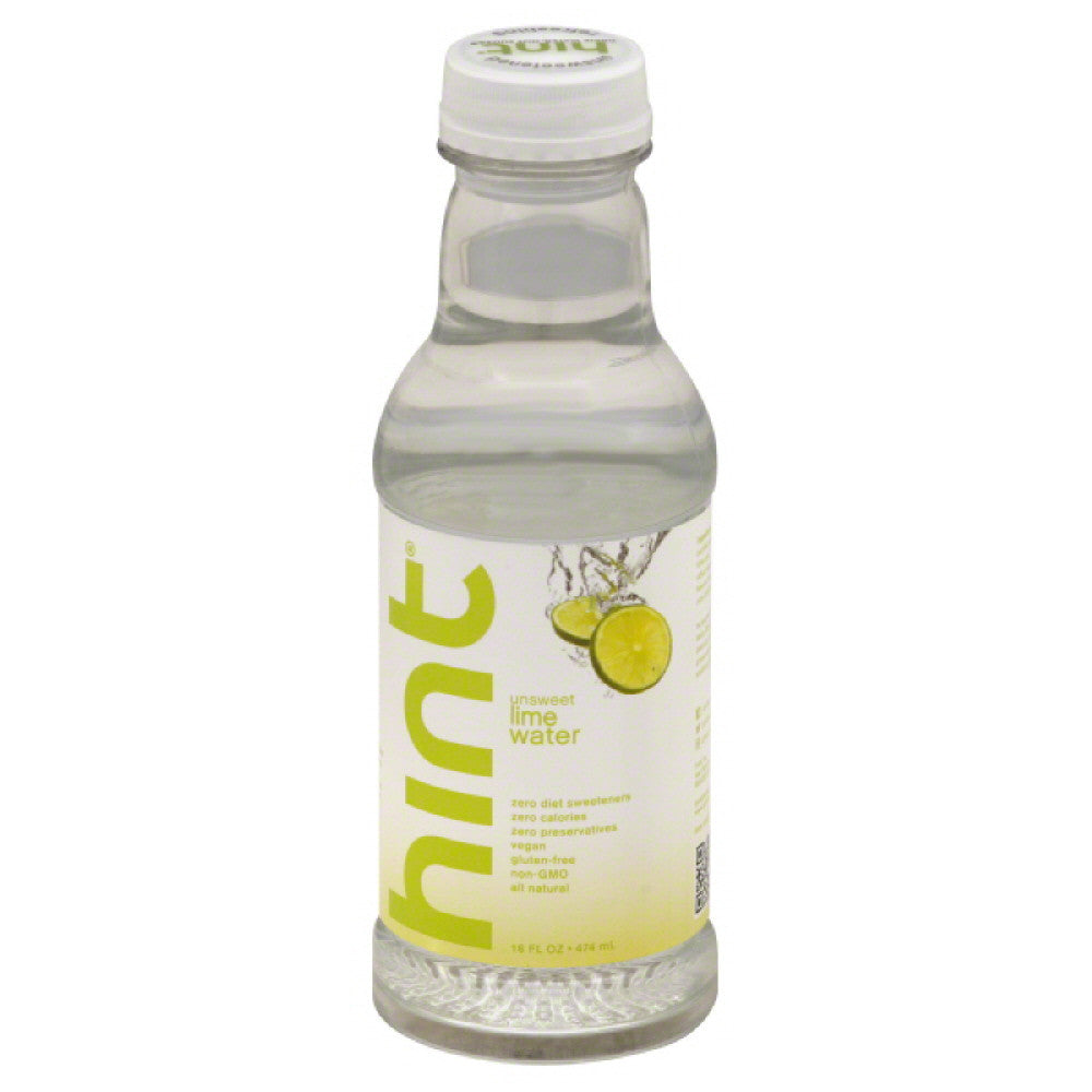 Hint Lime Unsweet Water, 16 Fo (Pack of 12)