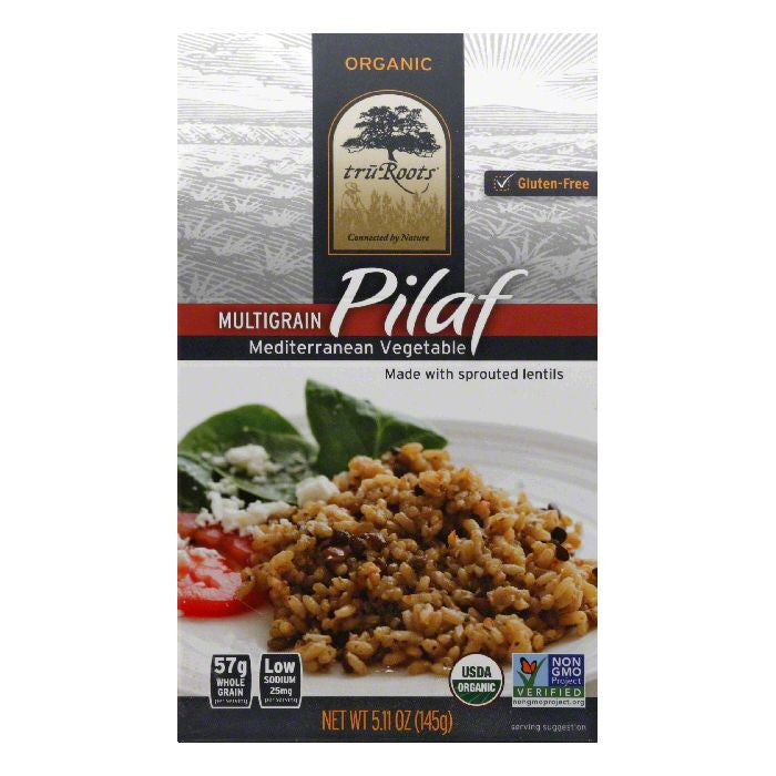 Tru Roots Mediterranean Vegetable Multigrain Pilaf, 5.36 Oz (Pack of 6)