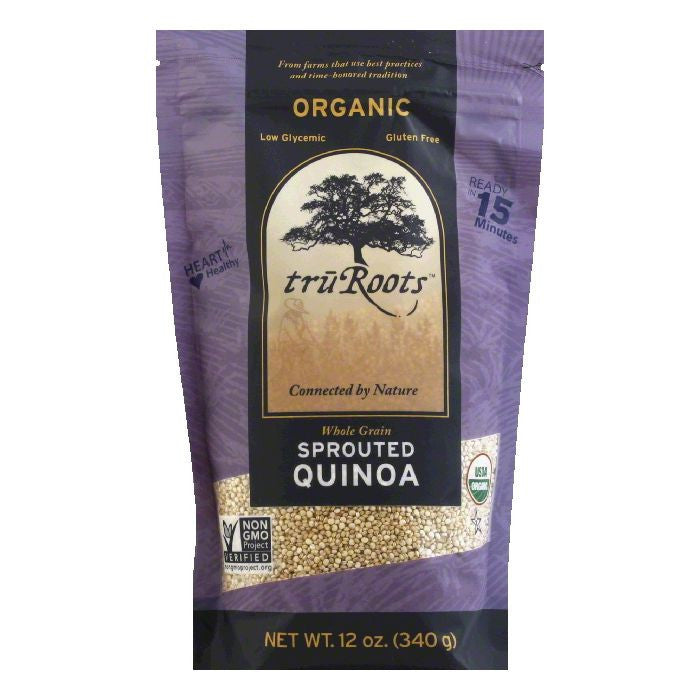 Tru Roots Organic Sprouted Quinoa, 12 Oz (Pack of 6)