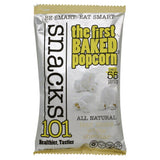 Snacks101 White Cheddar Baked Popcorn, 5 Oz (Pack of 12)