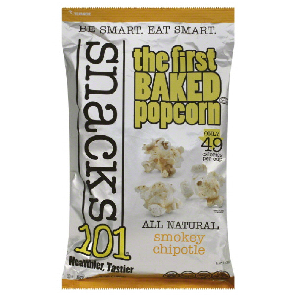 Snacks101 Smokey Chipotle Baked Popcorn, 4.5 Oz (Pack of 12)