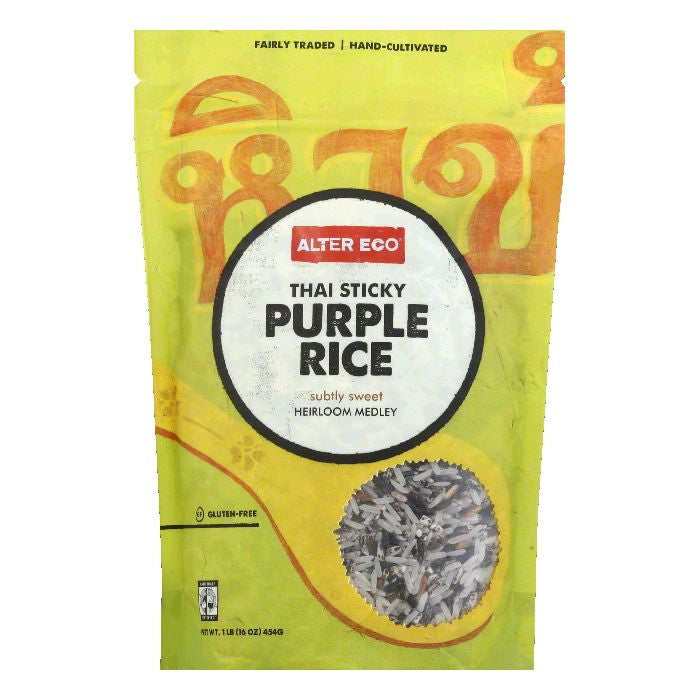 Alter Eco Thai Sticky Purple Rice, 16 Oz (Pack of 8)