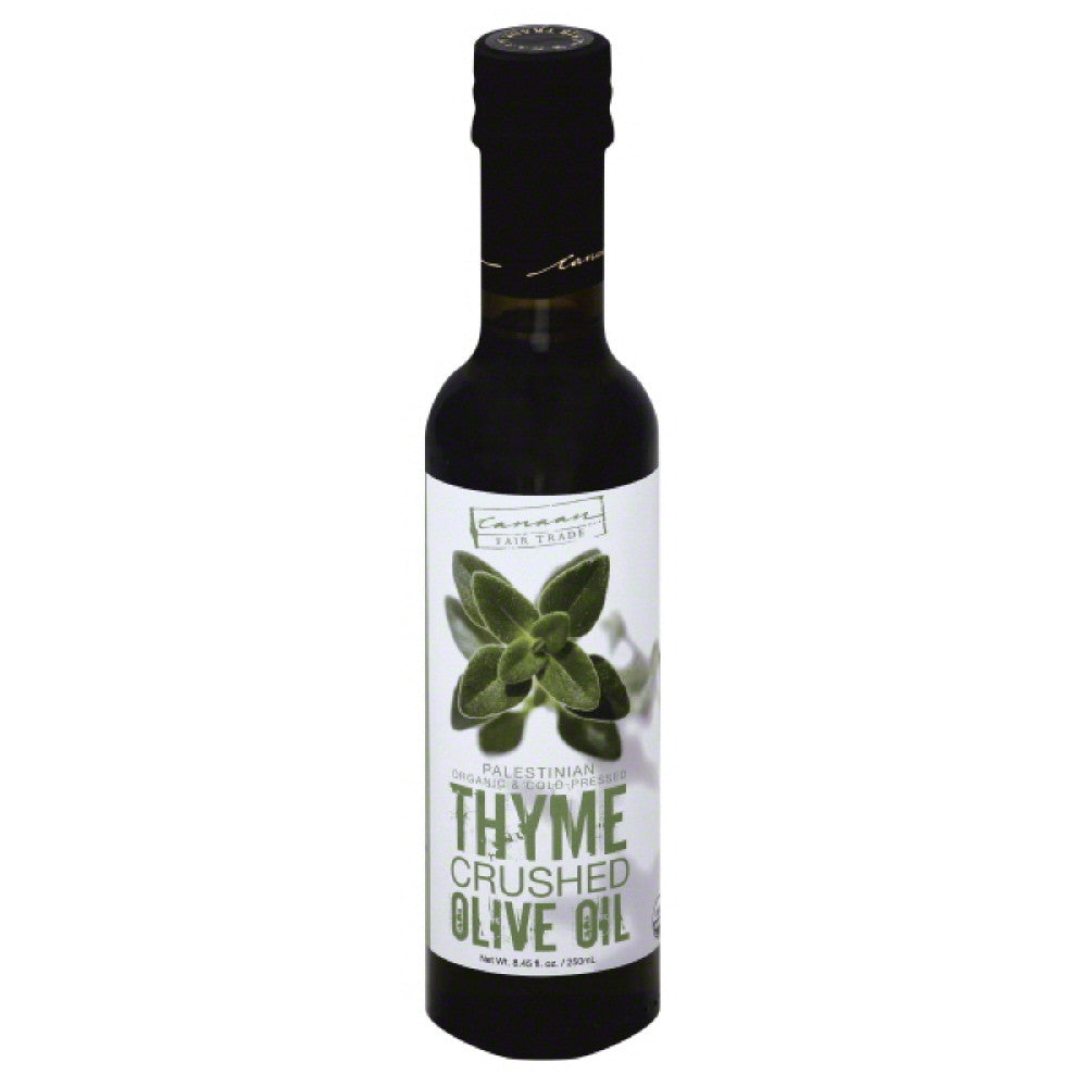 Canaan Fair Trade Organic Crushed Thyme Olive Oil, 250 Ml (Pack of 6)