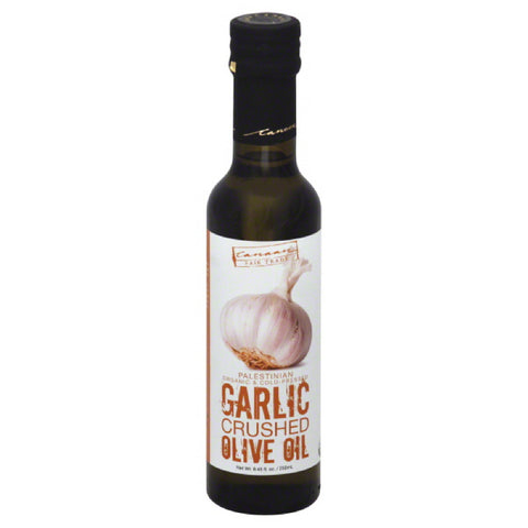 Canaan Fair Trade Organic Crushed Garlic Olive Oil, 250 Ml (Pack of 6)
