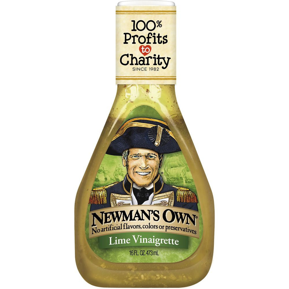 Newmans Own Lime Vinaigrette, 16 OZ (Pack of 6)