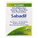 Boiron Quick-Dissolving Tablets Sabadil, 60 ea (Pack of 3)