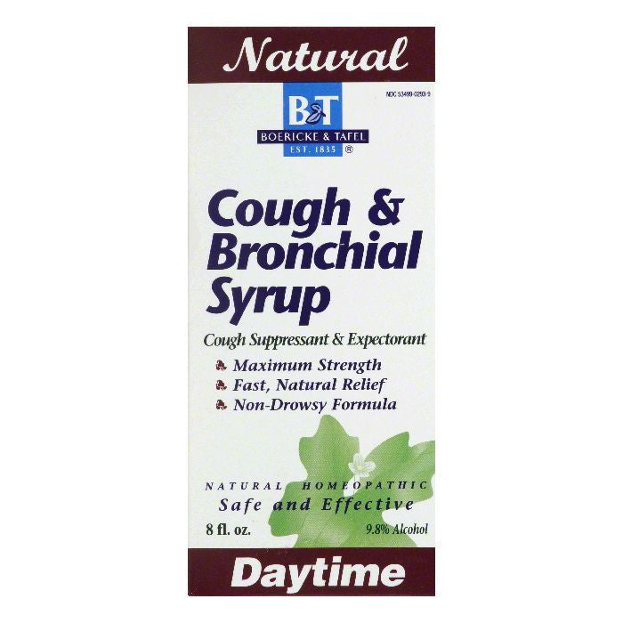 B&T Daytime Maximum Strength Cough & Bronchial Syrup, 8 OZ
