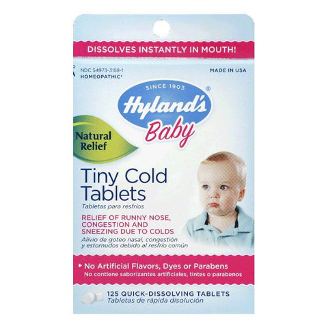 Hylands Quick-Dissolving Tablets Tiny Cold Tablets, 125 TB