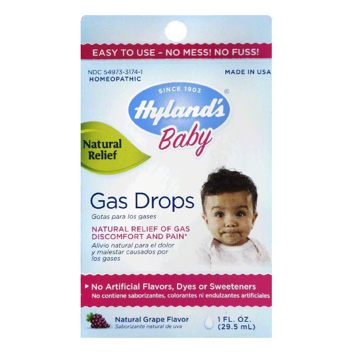 Hylands Natural Grape Flavor Gas Drops, 1 OZ