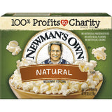 Newmans Own Natural Flavor Microwave Popcorn, 3 ea (Pack of 12)